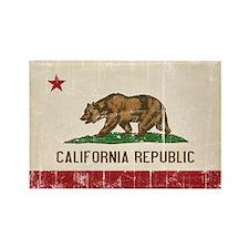 California Flag Distressed Rectangle Magnet