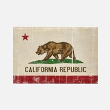 California Flag Distressed Rectangle Magnet
