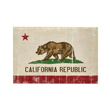 California Flag Distressed Rectangle Magnet (10 pa