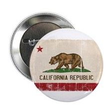 "California Flag Distressed 2.25"" Button"