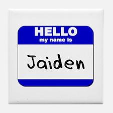 hello my name is jaiden  Tile Coaster
