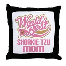 Shorkie tzu Dog Mom Throw Pillow