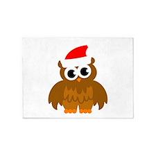 Christmas owl cartoon 5'x7'Area Rug