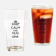 Keep Calm and HUG Lina Drinking Glass