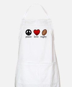 Rugby Peace Love Rugby Apron