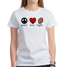 Rugby Peace Love Rugby Tee