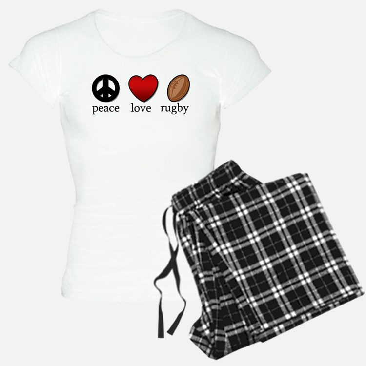 Rugby Peace Love Rugby Pajamas
