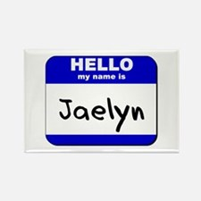 hello my name is jaelyn Rectangle Magnet