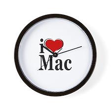 I Love Mac! Wall Clock