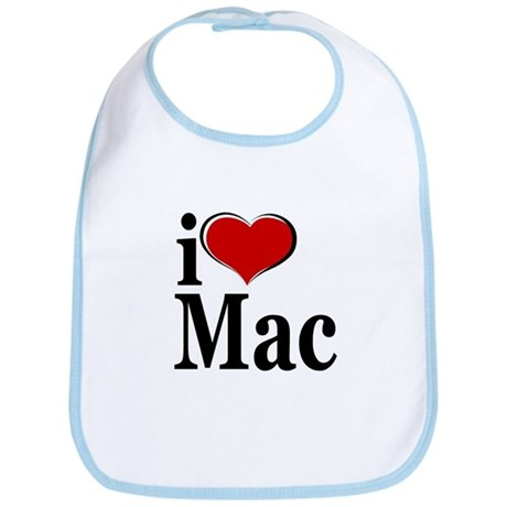I Love Mac! Bib