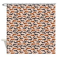 Dachshund Tan Shower Curtain