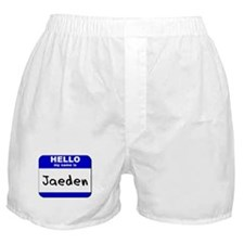 hello my name is jaeden  Boxer Shorts