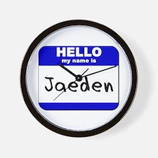 hello my name is jaeden  Wall Clock