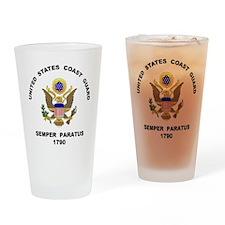 Semper Paratus Drinking Glass