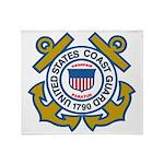 US Coast Guard Throw Blanket