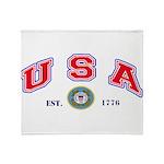USA USCG Flags Throw Blanket
