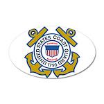 US Coast Guard 20X12 Oval Wall Decal