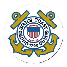 US Coast Guard Round Car Magnet