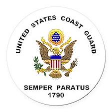Semper Paratus Round Car Magnet