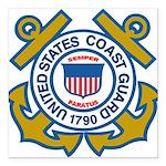 US Coast Guard Square Car Magnet 3