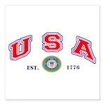 USA USCG Flags Square Ca Square Car Magnet 3