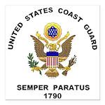 Semper Paratus Square Car Magnet 3&Quot; X 3&Quot;