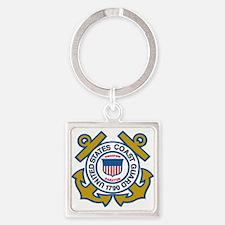 US Coast Guard Square Keychain