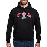 USA USCG Flags Hoodie (dark)