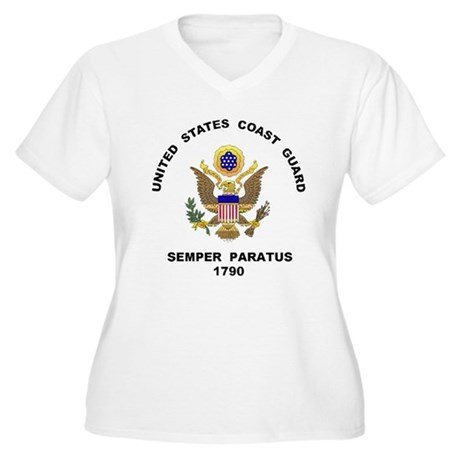 Semper Paratus Women's Plus Size V-Neck T-Shirt