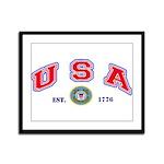 USA-USCG Framed Panel Print