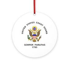 US Coast Guard Semper Paratus Ornament (Round)