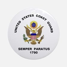 US Coast Guard Semper Paratus Ornament (Round)
