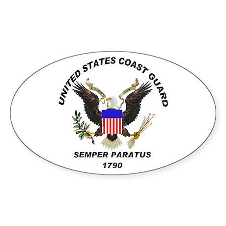 Semper Paratus Oval Sticker
