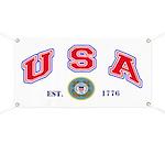 USA USCG Flags Banner