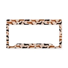 Dachshund Tan License Plate Holder