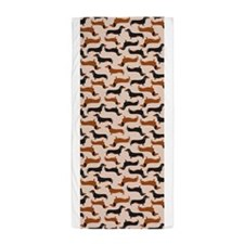 Dachshund Tan Beach Towel