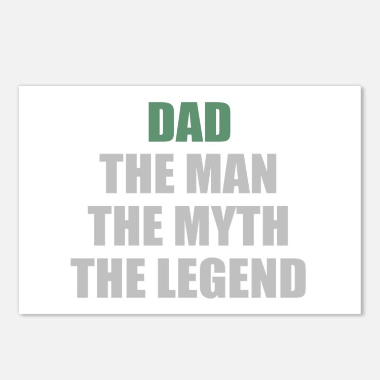 Dad the man myth legend Postcards (Package of 8)
