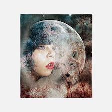 Full Moon Wolf Throw Blanket