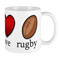 Rugby Peace Love Rugby Mug
