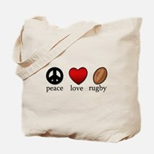 Rugby Peace Love Rugby Tote Bag
