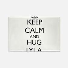 Keep Calm and HUG Lyla Magnets