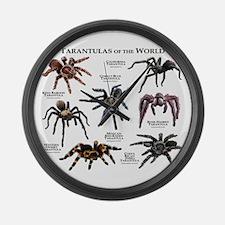 Tarantulas of the World Large Wall Clock