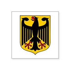 "Germany Coat of Arms Square Sticker 3"" x 3"""