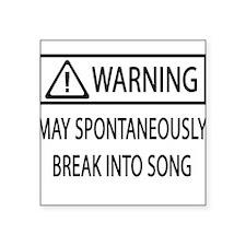 Spontaneous Singer BW Oval Sticker