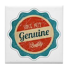 Retro Genuine Quality Since 1972 Tile Coaster