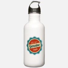 Retro Genuine Quality Since 1972 Label Water Bottle