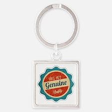 Retro Genuine Quality Since 1972 Square Keychain