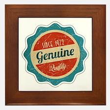 Retro Genuine Quality Since 1972 Framed Tile