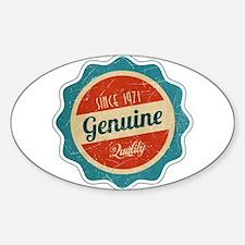 Retro Genuine Quality Since 1971 Decal