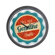 Retro Genuine Quality Since 1968 Wall Clock